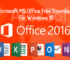 Office 2016 Tam Indirme